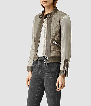 Womens Cross Biker Jacket (KHAKIGREEN)