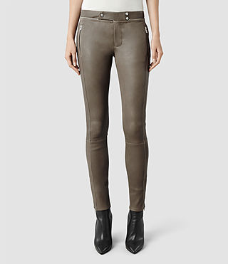 Womens Colmer Leather Pant (Deep Sage)