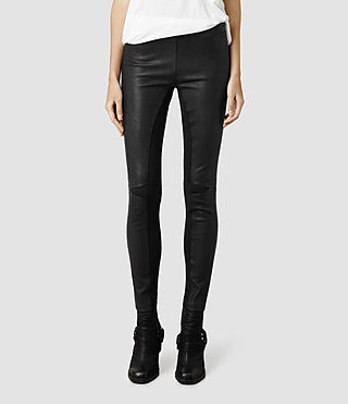 Womens Priar Leather Legging (Black)