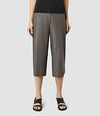 Women's Mitel Culottes (Slate Grey) - product_image_alt_text_2