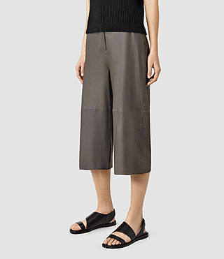 Women's Mitel Culottes (Slate Grey) - product_image_alt_text_3