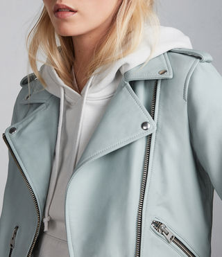Women's Balfern Biker Jacket (MINT GREEN) - Image 1
