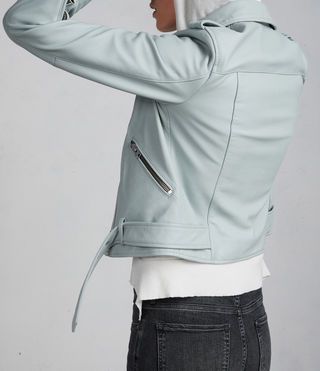 Women's Balfern Biker Jacket (MINT GREEN) - Image 5