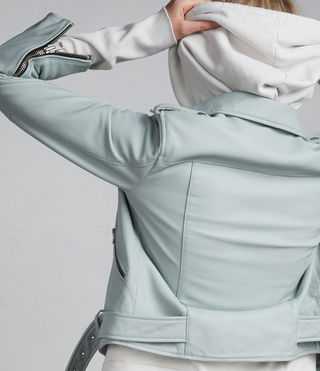 Women's Balfern Biker Jacket (MINT GREEN) - Image 8