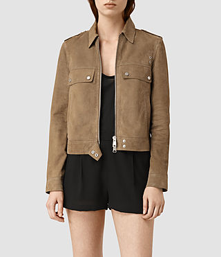 Women's Emery Suede Jacket (PALE BROWN)