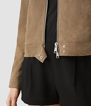 Womens Emery Jacket (PALE BROWN) - product_image_alt_text_2