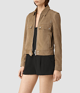 Donne Emery Suede Jacket (PALE BROWN) - product_image_alt_text_3