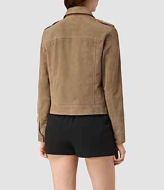Donne Emery Suede Jacket (PALE BROWN) - product_image_alt_text_4
