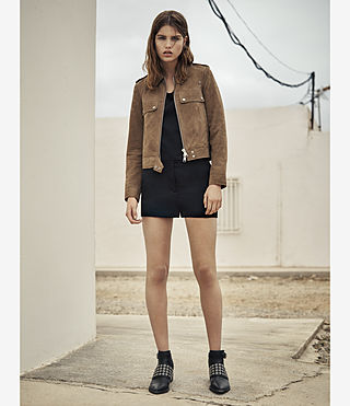 Donne Emery Suede Jacket (PALE BROWN) - product_image_alt_text_5