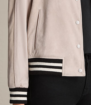 Damen Gresley Suede Bomber Jacket (Wshd Pink) - product_image_alt_text_2