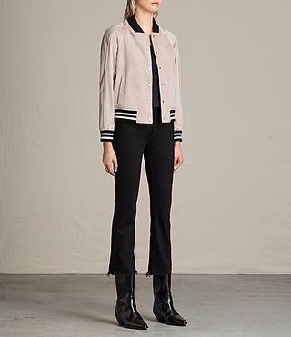 Damen Gresley Suede Bomber Jacket (Wshd Pink) - product_image_alt_text_3