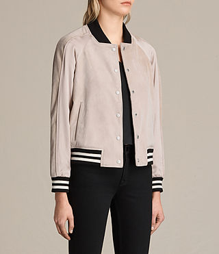 Damen Gresley Suede Bomber Jacket (Wshd Pink) - product_image_alt_text_6
