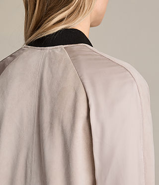Damen Gresley Suede Bomber Jacket (Wshd Pink) - product_image_alt_text_7