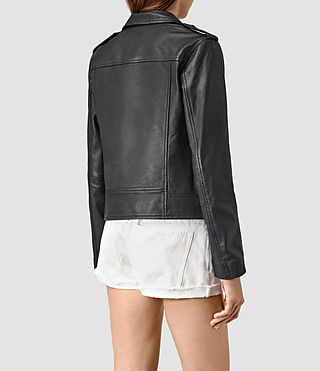 Donne Bourne Leather Biker Jacket (Black) - product_image_alt_text_4