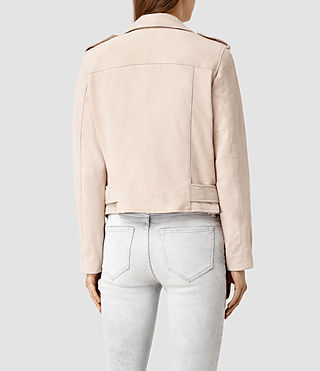 Damen Plait Balfern Biker Jacket (NUDE PINK) - product_image_alt_text_3