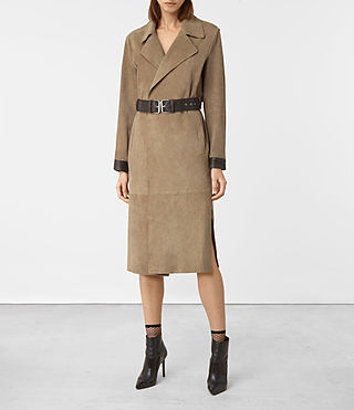 Damen Pickford Split Suede Mac (PALE BROWN)