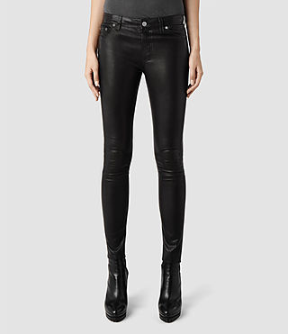Womens Elm Leather Jean (Black)