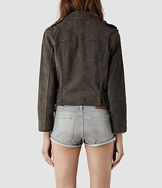 Womens Hind Leather Biker Jacket (Airforce) - product_image_alt_text_3