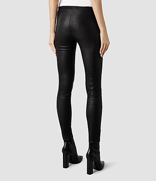 Womens Elm Leather Leggings (Black) - product_image_alt_text_3