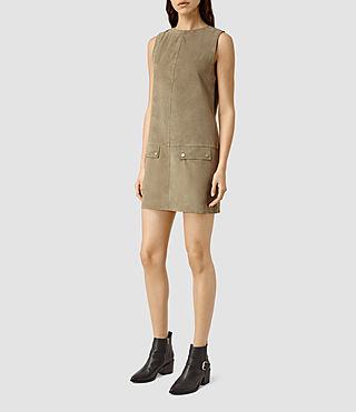 Femmes Huckerby Suede Dress (Khaki Brown) - product_image_alt_text_2