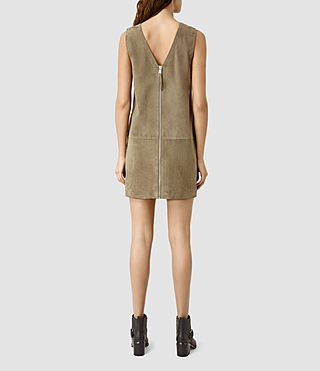 Women's Huckerby Suede Dress (Khaki Brown) - product_image_alt_text_3