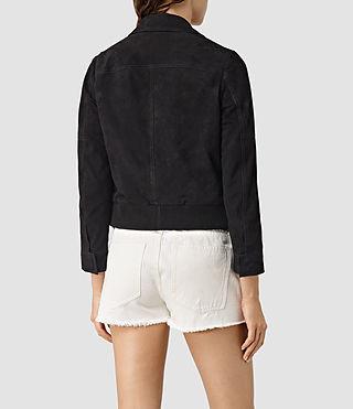 Mujer Hopkins Leather Bomber Jacket (Black) - product_image_alt_text_4