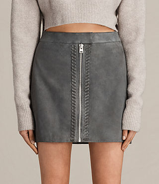 Womens Willow Suede Skirt (GRAPHITE GREY)