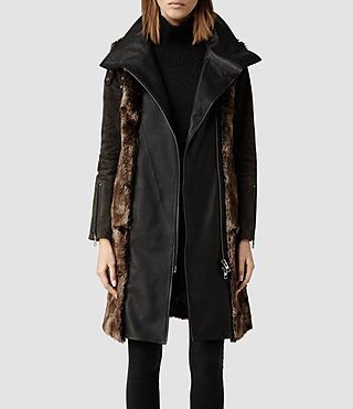 Womens Gibson Coat (Black/Anthracite)