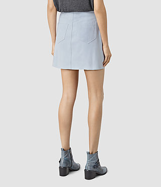 Womens Lancaster Leather Skirt (Sky Blue) - product_image_alt_text_4
