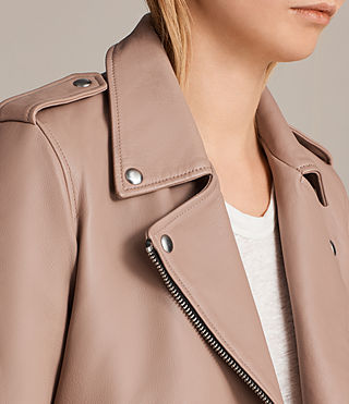 Womens 발펀 바이커 재킷 (BLUSH PINK) - product_image_alt_text_3