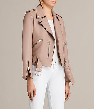 Womens 발펀 바이커 재킷 (BLUSH PINK) - product_image_alt_text_6