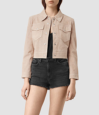 Damen Lavelles Suede Jacket (BARK BROWN)