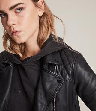 Damen Conroy Leather Biker Jacket (Ink) - product_image_alt_text_2