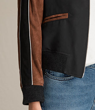 Damen Atley Bomber Jacket (BLACK/RUST RED) - product_image_alt_text_4