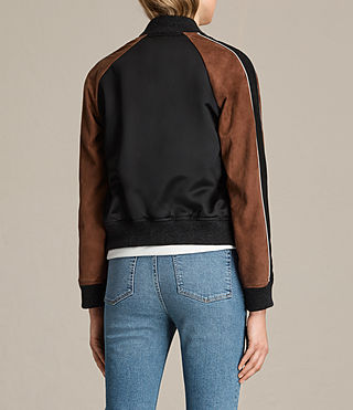 Damen Atley Bomber Jacket (BLACK/RUST RED) - product_image_alt_text_8