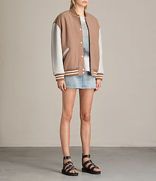 Womens Base Bomber Jacket (SMOKEORANGE/OYSTER) - product_image_alt_text_3