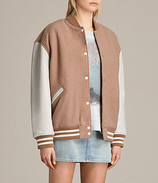 Womens Base Bomber Jacket (SMOKEORANGE/OYSTER) - product_image_alt_text_4