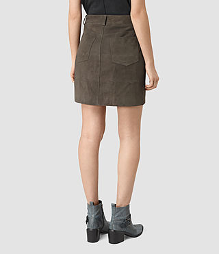 Mujer Routledge Suede Skirt (Graphite) - product_image_alt_text_4