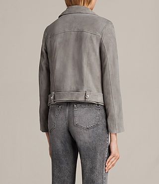 Damen Suede Cole Biker Jacket (Dark Grey) - product_image_alt_text_8