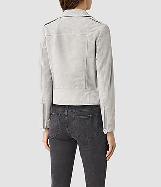 Mujer Latham Suede Biker Jacket (Pebble) - product_image_alt_text_4