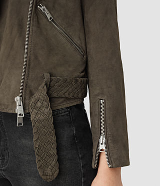 Mujer Braided Wyatt Leather Biker (GRANITE GREY) - product_image_alt_text_2