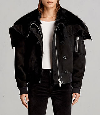Women's Trux Bomber Jacket (Black) - Image 1