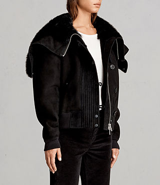 Women's Trux Bomber Jacket (Black) - Image 3