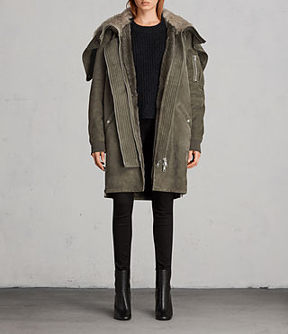 Womens State Parka (Khaki Green) - product_image_alt_text_1