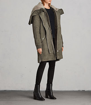 Womens State Parka (Khaki Green) - product_image_alt_text_3
