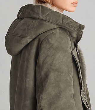 Womens State Parka (Khaki Green) - product_image_alt_text_4