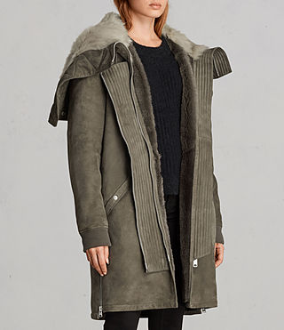 Womens State Parka (Khaki Green) - product_image_alt_text_5