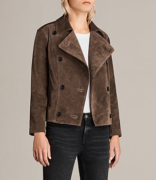 Damen Wildleder Deebee Blazer (Bitter Brown) - product_image_alt_text_2
