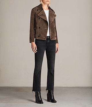 Damen Wildleder Deebee Blazer (Bitter Brown) - product_image_alt_text_3