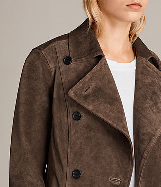 Damen Wildleder Deebee Blazer (Bitter Brown) - product_image_alt_text_4